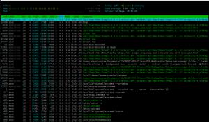 Monitoreo de procesos usando htop