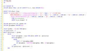 Script para guardar procedimientos almacenados en SQL Server