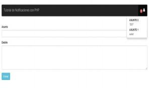 Notificaciones en tiempo real con PHP y Ajax