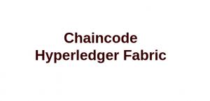 Implementación de smart contract en Hyperledger Fabric